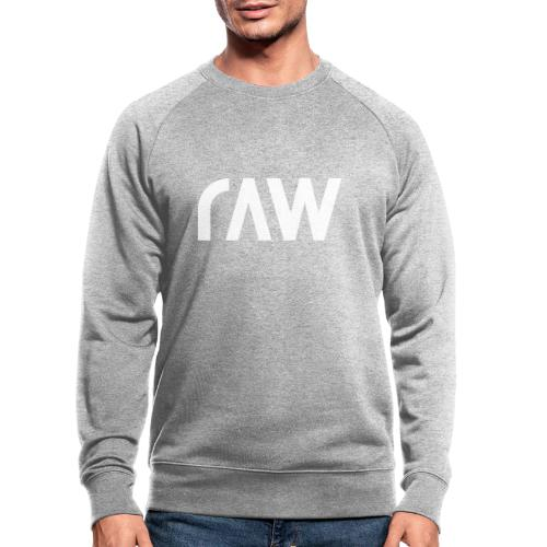 raw.lighting solid white - Männer Bio-Sweatshirt