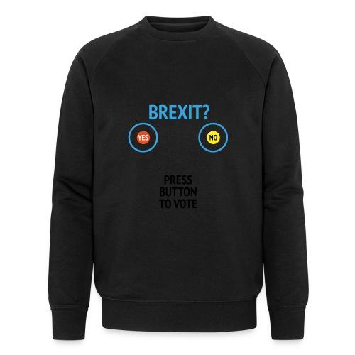 Brexit: Press Button To Vote - Økologisk Stanley & Stella sweatshirt til herrer