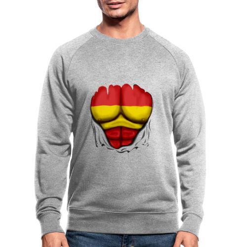 España Flag Ripped Muscles six pack chest t-shirt - Men's Organic Sweatshirt