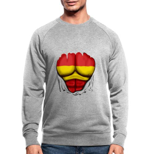 España Flag Ripped Muscles six pack chest t-shirt - Men's Organic Sweatshirt