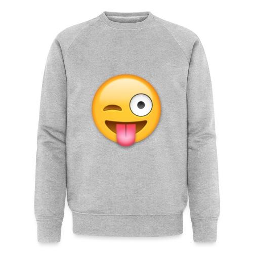 Winking Face - Männer Bio-Sweatshirt von Stanley & Stella