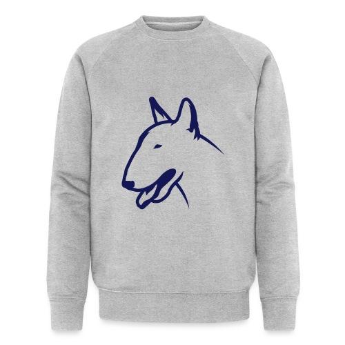 Bullterrier BULLY HEAD 1c_4light - Männer Bio-Sweatshirt