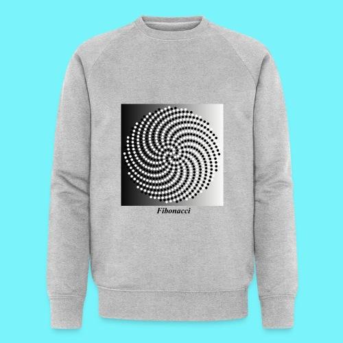 Fibonacci spiral pattern in black and white - Men's Organic Sweatshirt