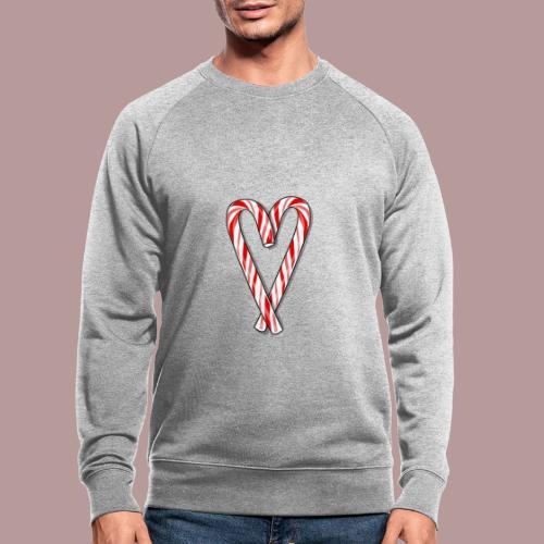 Sucre d'orge en forme de coeur - Sweat-shirt bio