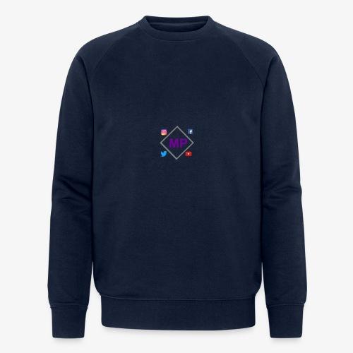 MP logo with social media icons - Men's Organic Sweatshirt by Stanley & Stella