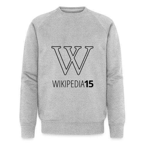 W, rak, vit - Ekologisk sweatshirt herr