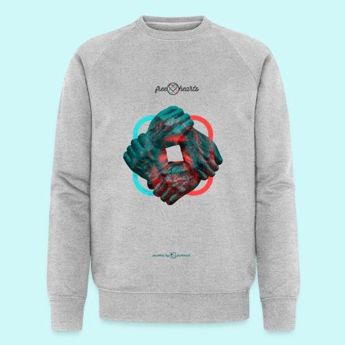 four hands for free hearts without scripture - Männer Bio-Sweatshirt von Stanley & Stella