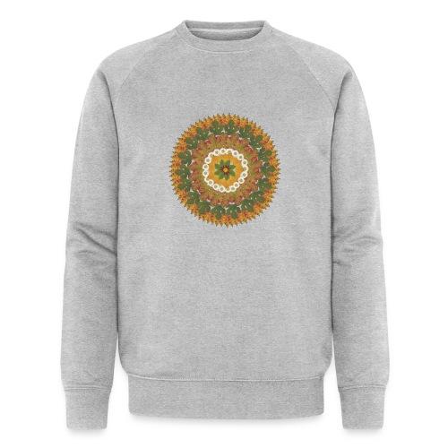 Herbstmandala - Männer Bio-Sweatshirt