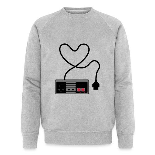 NES Controller Heart - Men's Organic Sweatshirt by Stanley & Stella