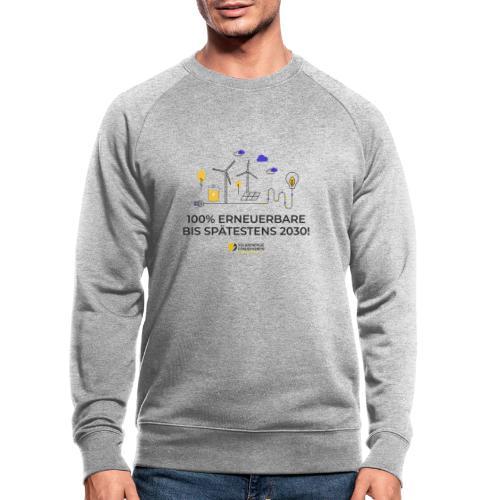100% Erneuerbare 2030 - Männer Bio-Sweatshirt