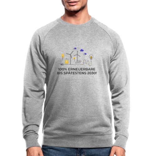 100% Erneuerbare 2030 2 - Männer Bio-Sweatshirt