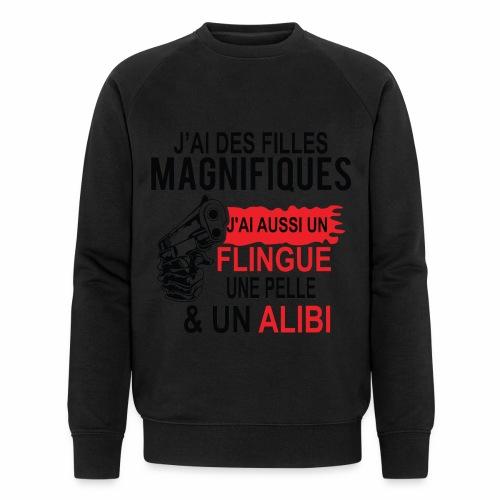 J'AI DEUX FILLES MAGNIFIQUES Best t-shirts 25% - Sweat-shirt bio Stanley & Stella Homme
