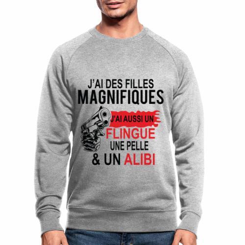 J'AI DEUX FILLES MAGNIFIQUES Best t-shirts 25% - Sweat-shirt bio