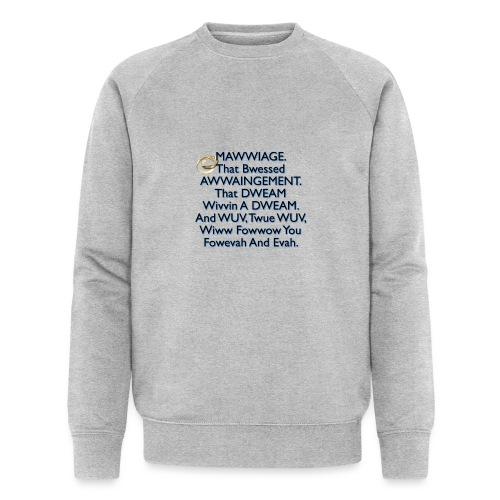 Mawwiage (blue) - Men's Organic Sweatshirt by Stanley & Stella