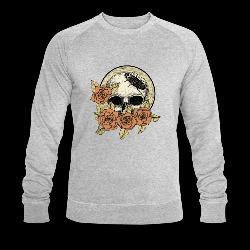 Rose et tête de mort - Sweat-shirt bio