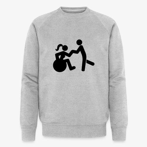 Afbeelding van vrouw in rolstoel die danst met man - Mannen bio sweatshirt van Stanley & Stella