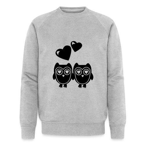 verliebte Eulen - Männer Bio-Sweatshirt