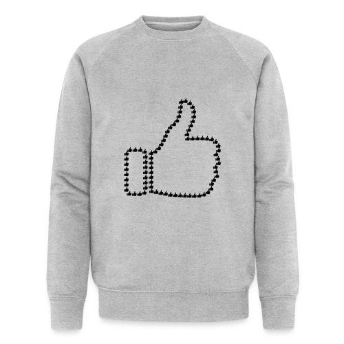 Zustimmung aus Daumen - Männer Bio-Sweatshirt von Stanley & Stella