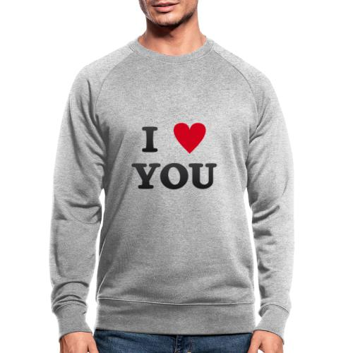 I love you - Økologisk sweatshirt for menn fra Stanley & Stella
