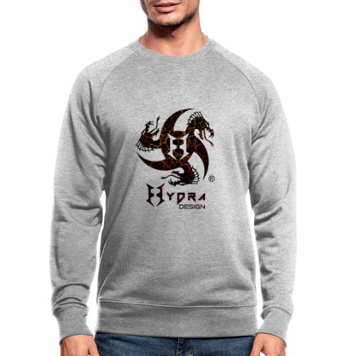 Hydra Design - logo Cracked lava - Felpa ecologica da uomo