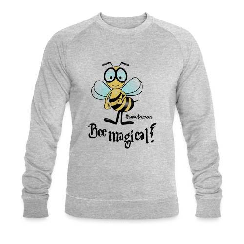 Bees10 - bees are magical | save the bees - Men's Organic Sweatshirt by Stanley & Stella