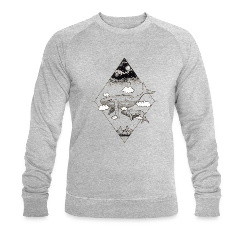 Whale Hello - Økologisk Stanley & Stella sweatshirt til herrer