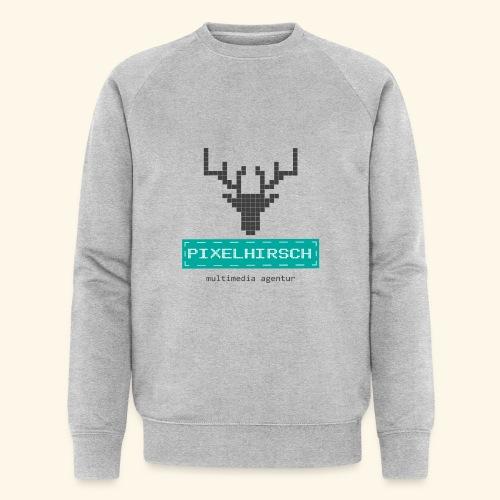 PIXELHIRSCH - Logo - Männer Bio-Sweatshirt