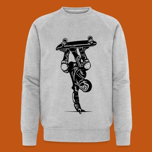 Skater / Skateboarder 02_schwarz - Männer Bio-Sweatshirt von Stanley & Stella