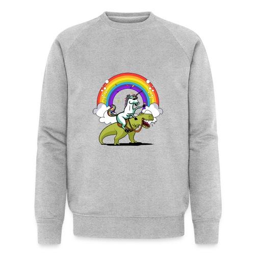 Unicorn Riding Ninja - Miesten luomucollegepaita
