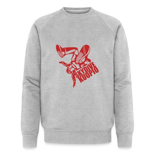 KLU logo red - Miesten luomucollegepaita