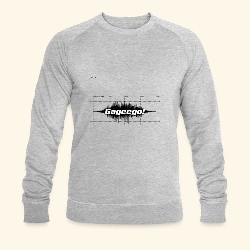 Gageego logga vit text - Ekologisk sweatshirt herr från Stanley & Stella