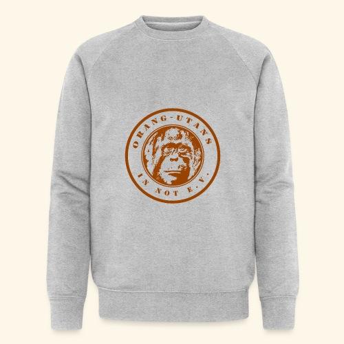 Logo Orang-Utans in Not e.V. braun - Männer Bio-Sweatshirt von Stanley & Stella