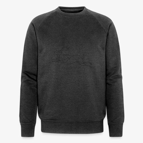 Hase geometrie, Tier geometrisch - Männer Bio-Sweatshirt von Stanley & Stella