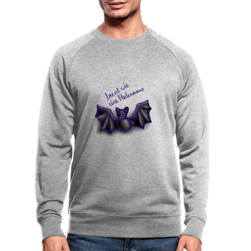bunt wie eine Fledermaus - Männer Bio-Sweatshirt