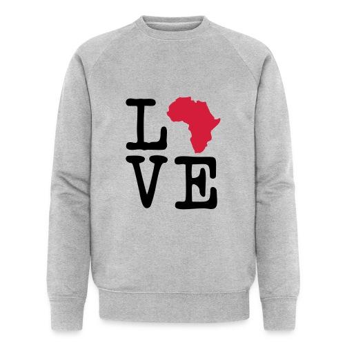 I Love Africa, I Heart Africa - Men's Organic Sweatshirt by Stanley & Stella