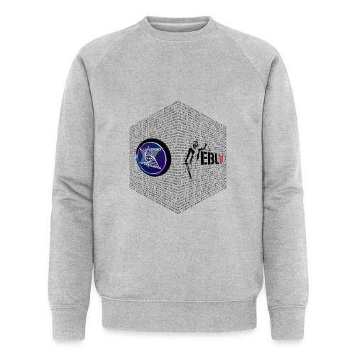 disen o dos canales cubo binario logos delante - Men's Organic Sweatshirt by Stanley & Stella