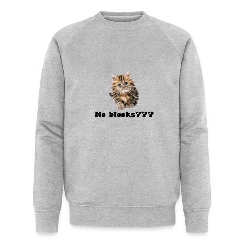 No block kitten - Økologisk sweatshirt for menn