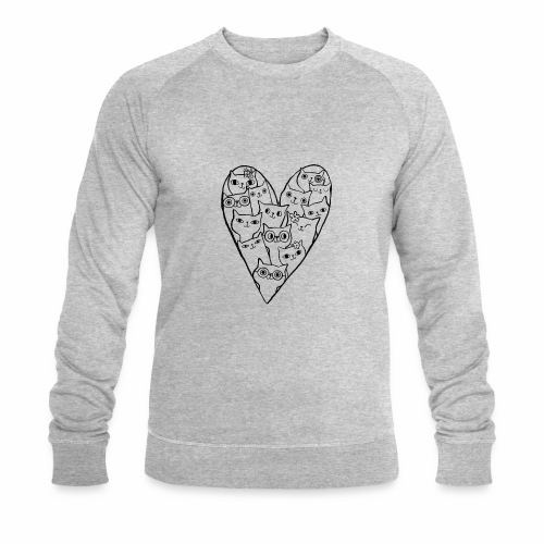 I Love Cats - Men's Organic Sweatshirt by Stanley & Stella