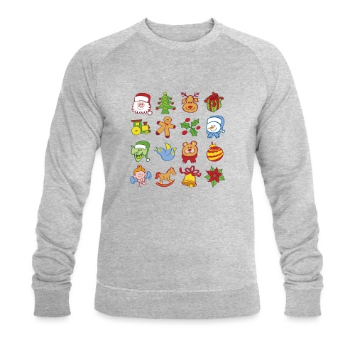 Traditional Christmas characters and symbols - Men's Organic Sweatshirt by Stanley & Stella