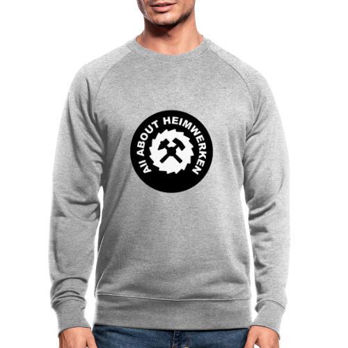 ALL ABOUT HEIMWERKEN - LOGO - Männer Bio-Sweatshirt
