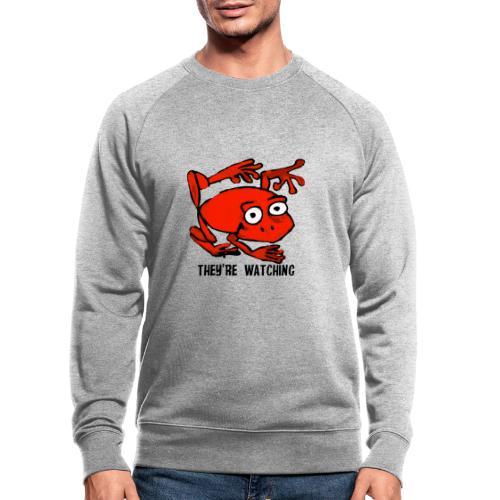 red frog - Felpa ecologica da uomo