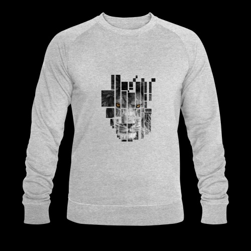 Pixel Lion Tattoo Inspire - Men's Organic Sweatshirt by Stanley & Stella