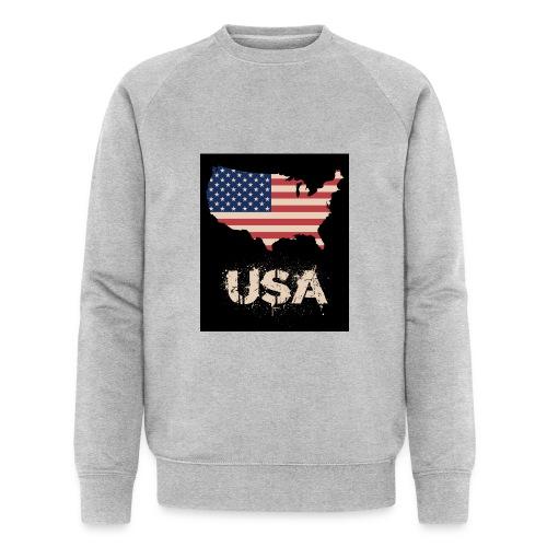 USA FLAG 4th of July With Flag - Ekologisk sweatshirt herr från Stanley & Stella
