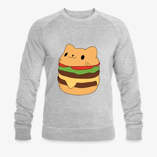 cat burger - Men's Organic Sweatshirt by Stanley & Stella
