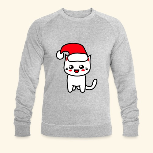 Kawaii Kitteh Christmashat - Männer Bio-Sweatshirt von Stanley & Stella