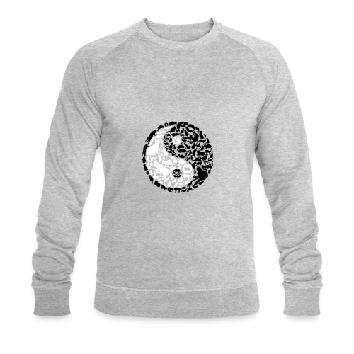 YinYang Cats - Männer Bio-Sweatshirt von Stanley & Stella