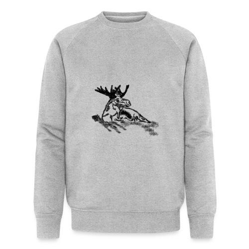 Liegender Elch - Männer Bio-Sweatshirt von Stanley & Stella
