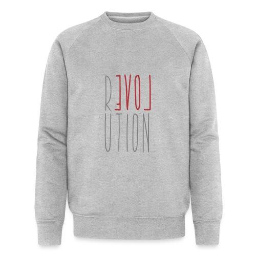 Love Peace Revolution - Liebe Frieden Statement - Männer Bio-Sweatshirt