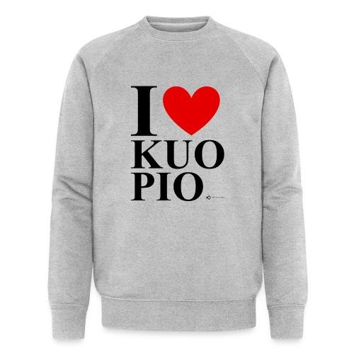 I LOVE KUOPIO ORIGINAL (musta) - Stanley & Stellan miesten luomucollegepaita