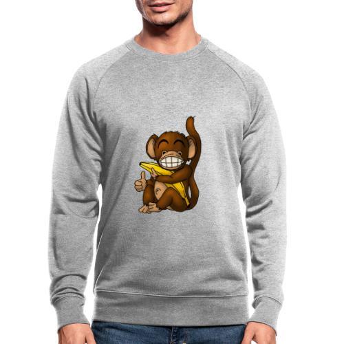 Super Fröhlicher Affe - Männer Bio-Sweatshirt
